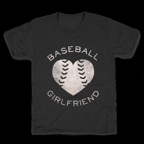 Baseball Girlfriend (Dark Tank) Kids T-Shirt