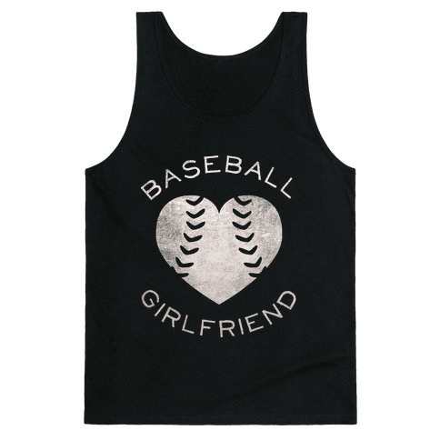 Baseball Girlfriend (Dark Tank) Tank Top