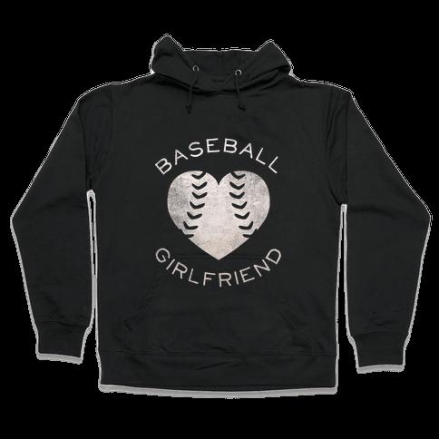 Baseball Girlfriend (Dark Tank) Hooded Sweatshirt