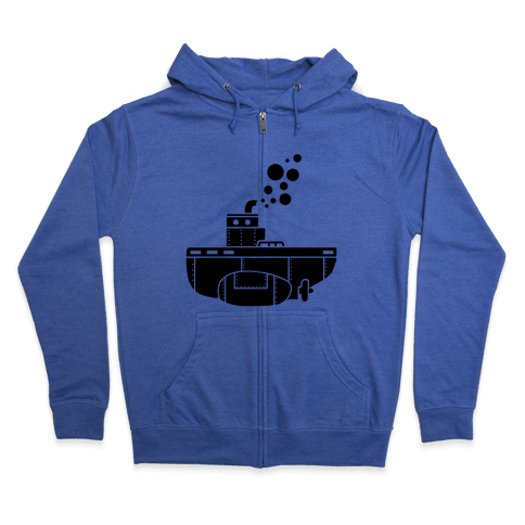 Nautical Submarine Zip Hoodie