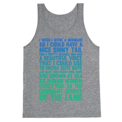 76c94ab67ab031 I wish I was a Mermaid Tank Top
