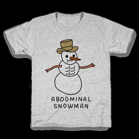 Abdominal Snowman Kids T-Shirt