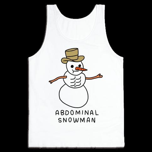 Abdominal Snowman Tank Top