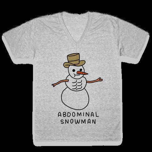 Abdominal Snowman V-Neck Tee Shirt