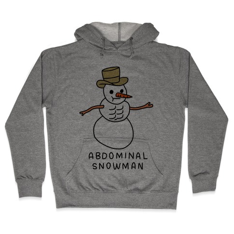 Abdominal Snowman Hooded Sweatshirt