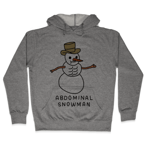 Abdominal Snowman Hooded Sweatshirt