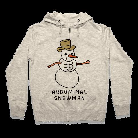 Abdominal Snowman Zip Hoodie