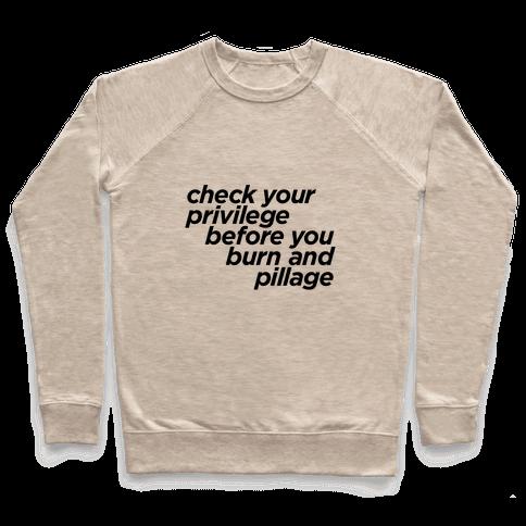 Check Your Privilege Pullover