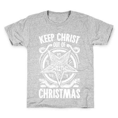 Keep Christ Out of Christmas Baphomet Kids T-Shirt