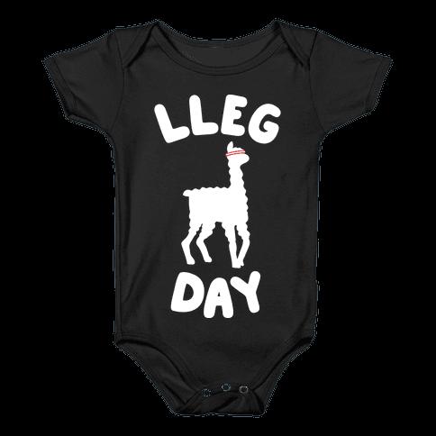 Lleg Day Llama Baby Onesy