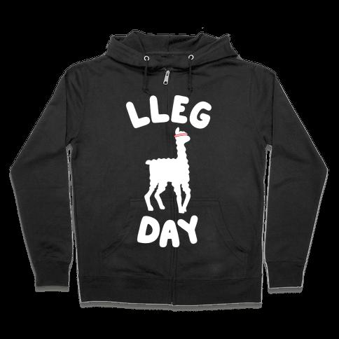 Lleg Day Llama Zip Hoodie