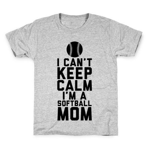 I Can T Keep Calm I M A Softball Mom T Shirt Lookhuman