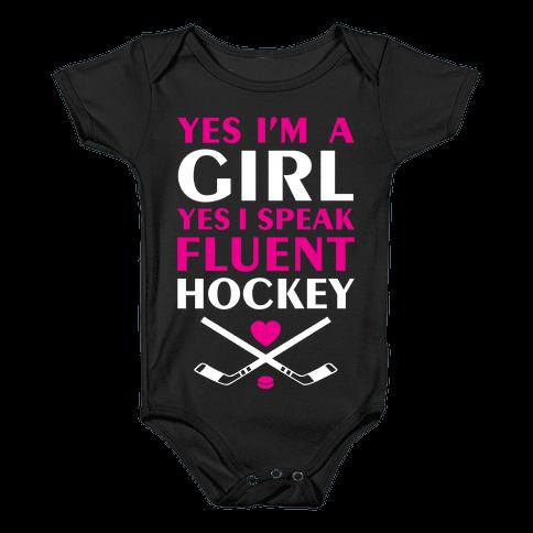Fluent Hockey Baby Onesy