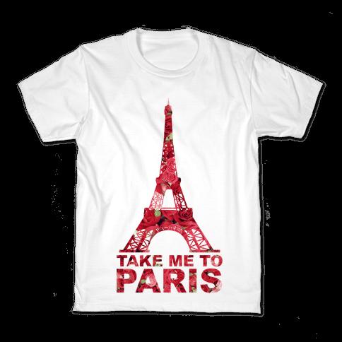 Take Me To Paris Kids T-Shirt