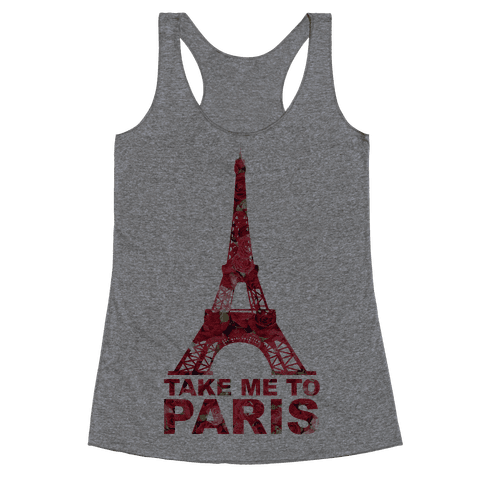 Take Me To Paris Racerback Tank Top