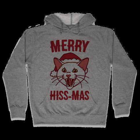 Merry Hiss-mas Hooded Sweatshirt