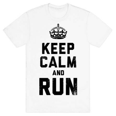 Keep Calm And Run (Tank) Mens T-Shirt