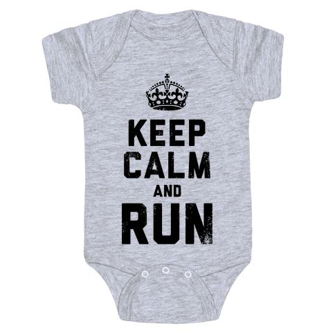 Keep Calm And Run (Tank) Baby Onesy