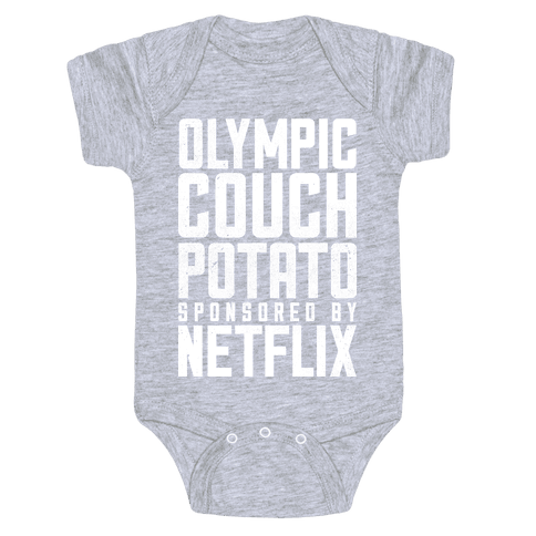 Olympic Couch Potato Baby Onesy