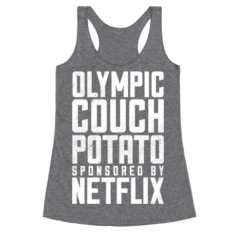 Olympic Couch Potato Racerback Tank Top
