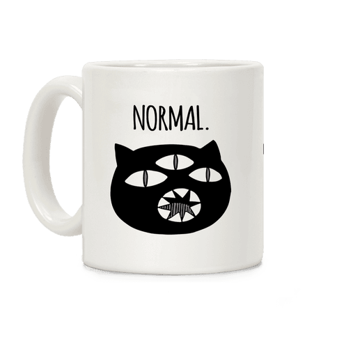 Completely Normal (Kuro cat) Coffee Mug