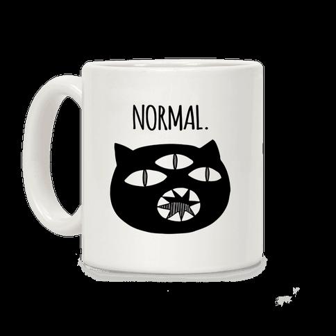 Completely Normal (Kuro cat) Coffee Mug