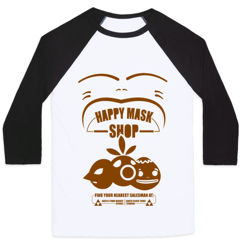 Happy Mask Shop Baseball Tee