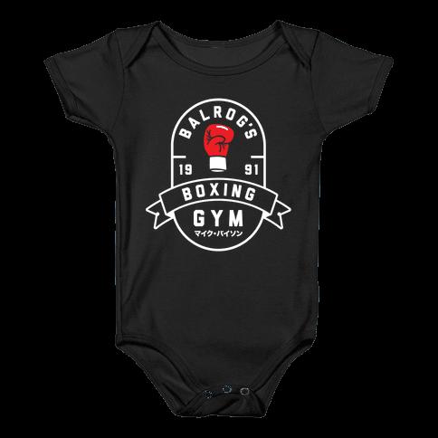 Balrog's Boxing Gym Baby Onesy
