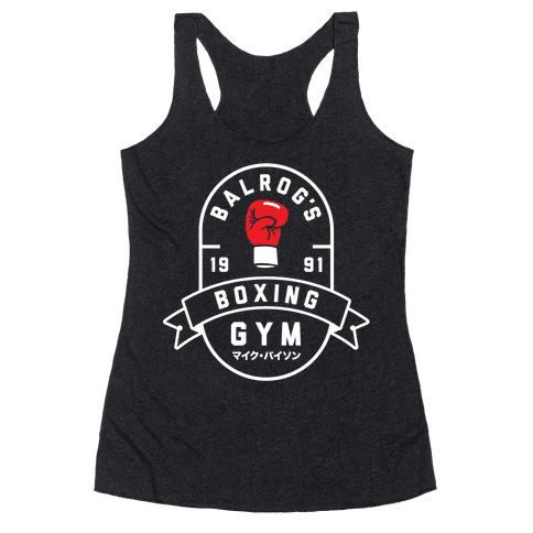 Balrog's Boxing Gym Racerback Tank Top