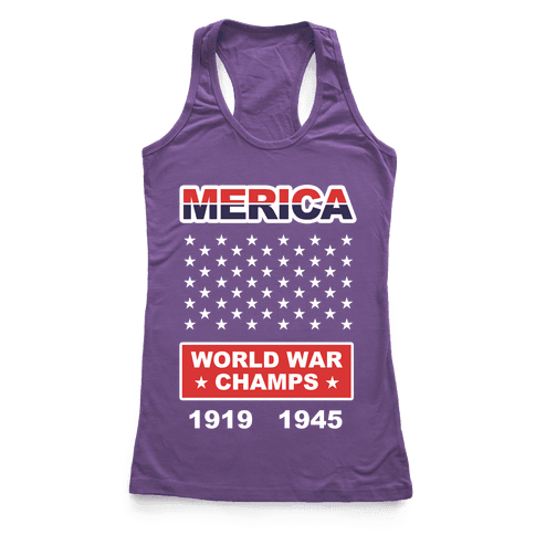 MERICA WW CHAMPS Racerback Tank Top
