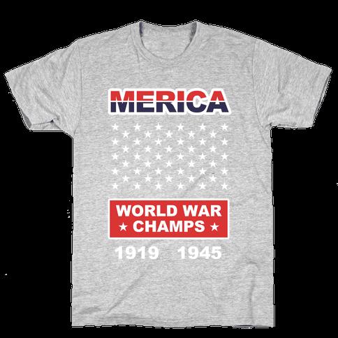 MERICA WW CHAMPS Mens T-Shirt
