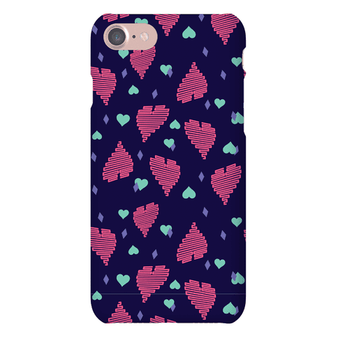 Neon Heart Pattern Phone Case