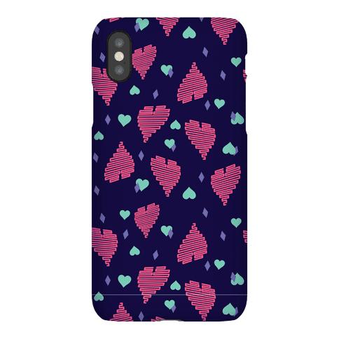 Neon Heart Pattern Phone Case