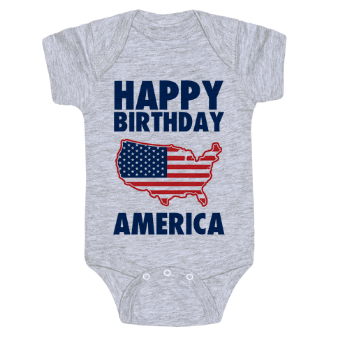 Happy Birthday America Baby Onesy