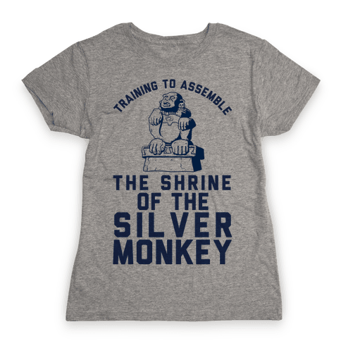 Training To Assemble The Shrine Of The Silver Monkey Womens T-Shirt