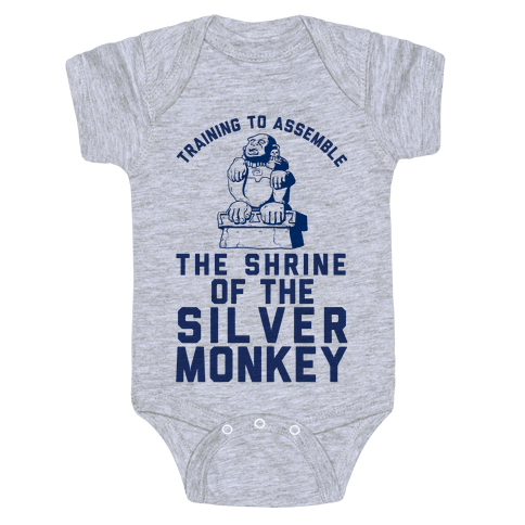 Training To Assemble The Shrine Of The Silver Monkey Baby Onesy