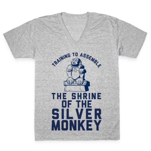 Training To Assemble The Shrine Of The Silver Monkey V-Neck Tee Shirt