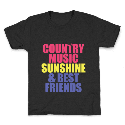Music, Sun, Friends Kids T-Shirt