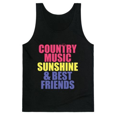 Music, Sun, Friends Tank Top