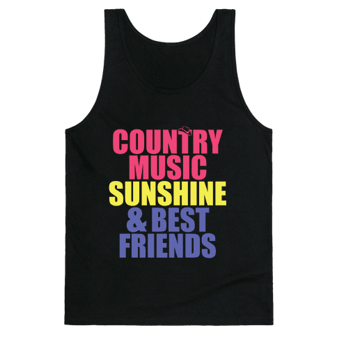 Music, Sun, Friends Tank Top