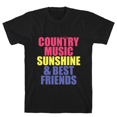Music, Sun, Friends T-Shirt