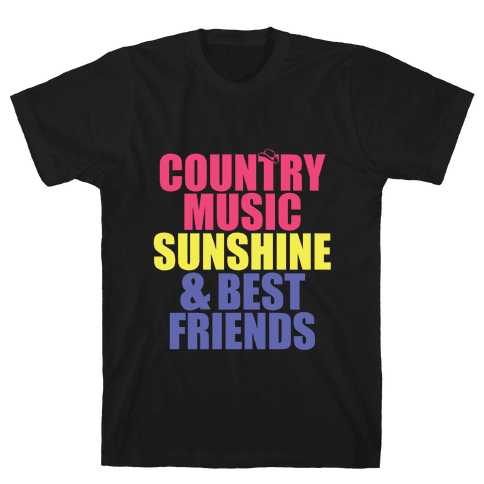 Music, Sun, Friends Mens T-Shirt