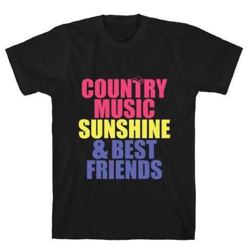 Music, Sun, Friends Mens T-Shirt