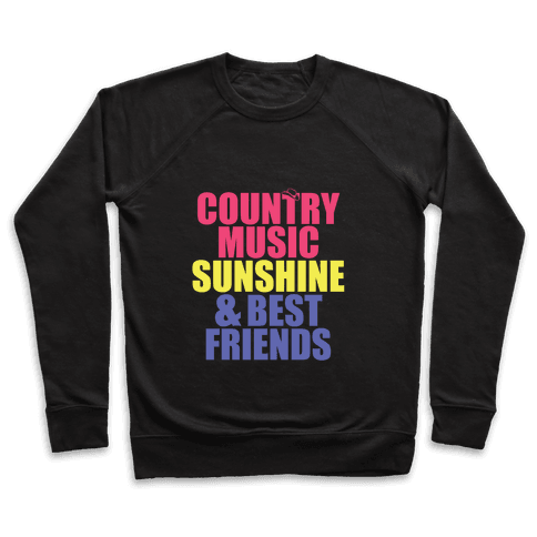 Music, Sun, Friends Pullover