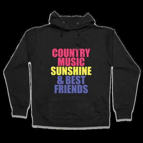 Music, Sun, Friends Hooded Sweatshirt