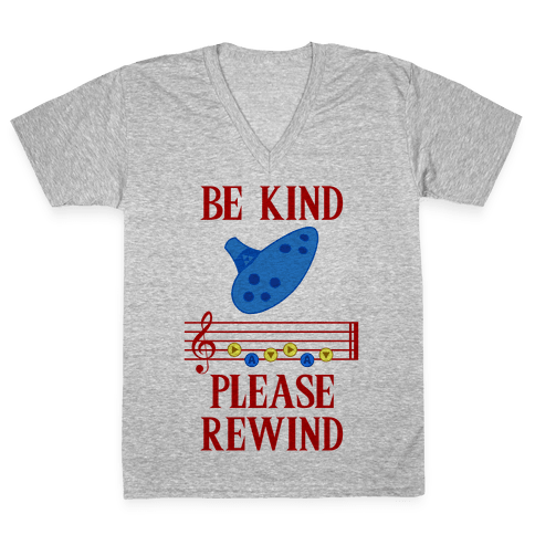 Be Kind, Please Rewind V-Neck Tee Shirt