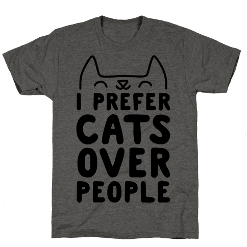 I Prefer Cats Over People Mens T-Shirt