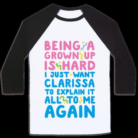 Clarissa Explains It All Baseball Tee