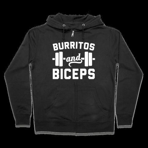 Burritos And Biceps Zip Hoodie