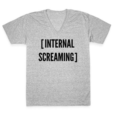 Internal Screaming V-Neck Tee Shirt